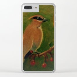 Waxwing Clear iPhone Case