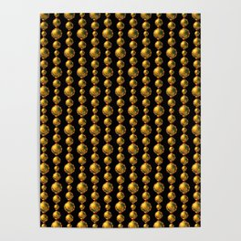 Bead Pattern, Gold & Black Poster
