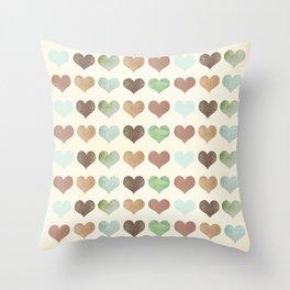 DG HEARTS - RUSTIC Throw Pillow