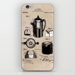 patent China Coffee pot - Blanke - 1909 iPhone Skin