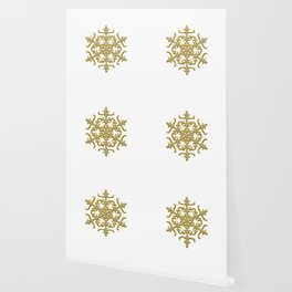 ornament, pattern, decor, gold decor, floral pattern, winter pattern, coldly, jewelry, frosty patter Wallpaper