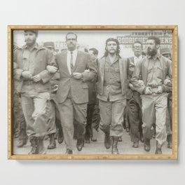 Che Guevara, Fidel Castro and Revolutionaries Serving Tray