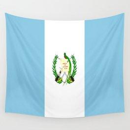 Flag of Guatemala- Guatemalan, Mixco,Villa Nueva,Petapa,tropical,central america,spanish,latine Wall Tapestry