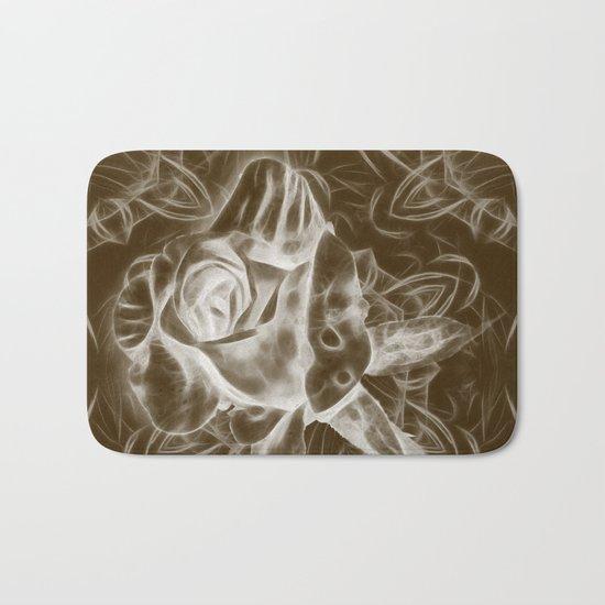 Rose infrared in brown Bath Mat
