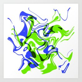 "AGILITY – 20"" x 20"" (50 x 50 cm), abstract art Art Print"