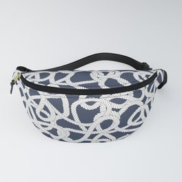 Nautical Rope Knots in Navy Fanny Pack