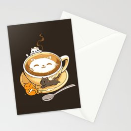 Latte Cat Stationery Cards