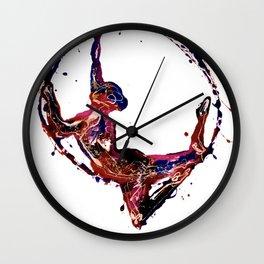 Splatter Hoop Wall Clock
