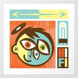 Hi Fi Art Print