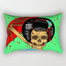 Geisha skull Rectangular Pillow
