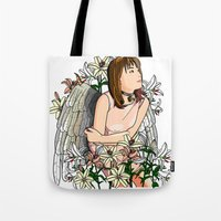 devil Tote Bags featuring Devil by Benimarudo