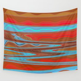 Abstract Retro Lava Water Deep Earth Landscape Wall Tapestry