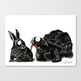 Tortoise & Hare Canvas Print