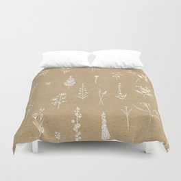 Wildflowers kraft Duvet Cover