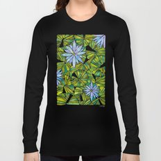 Water Lilies – Lavender & Green Palette Long Sleeve T-shirt