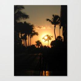 Key West, Florida Sunset. Canvas Print