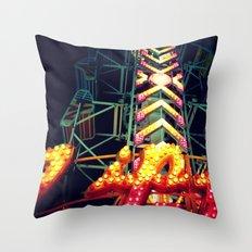 Carnival Lights, The Zipper Throw Pillow