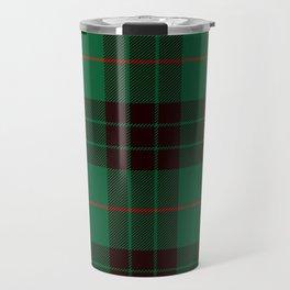 Dark Green Tartan with Black and Red Stripes Travel Mug