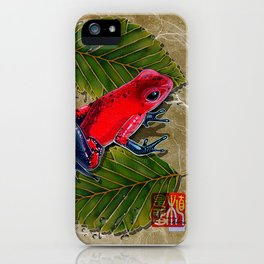 DW-002 Floating Frog iPhone Case