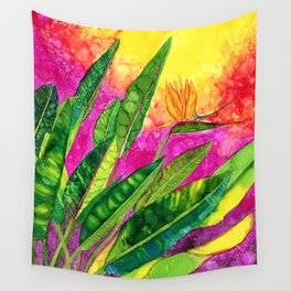 Bird of paradise flower Wall Tapestry
