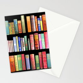 Christmas Antique Book Library for Bibliophile.bookworm, book lover, library, teachers , students, Stationery Cards