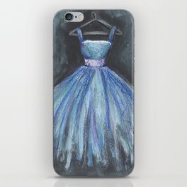 Ballerina Blue Dress iPhone Skin
