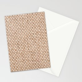 Beige flax cloth texture abstract Stationery Cards