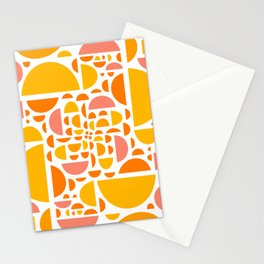 Mid Century Citrus Wedges - Multi-Colored  Stationery Cards