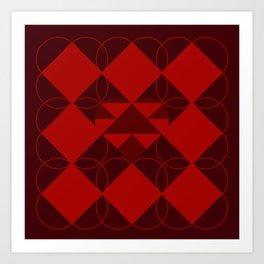 Abstract Heart Pattern Art Print