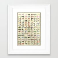 bikes Framed Art Prints featuring Bikes by Wyatt Design