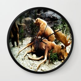 Grizzly Fight Wall Clock