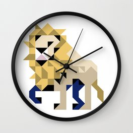 LION PATCH Wall Clock