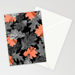 Fall Leaves - Orange Stationery Cards