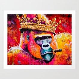 KING---GORILLA Art Print