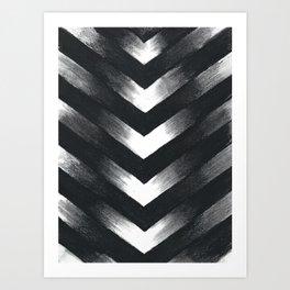 Charcoal Point Art Print