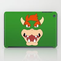 mario bros iPad Cases featuring Bowser Super Mario Bros. by JAGraphic