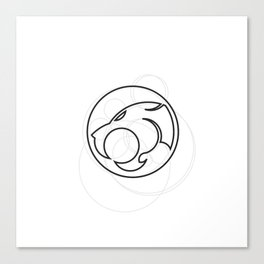 Thundercats geometrically outlined.  Canvas Print