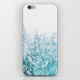 Snowy Pines iPhone Skin