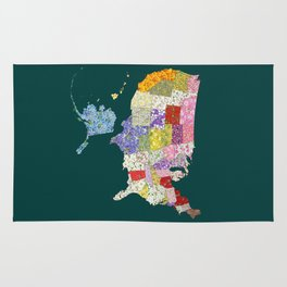 United States in Flowers Rug