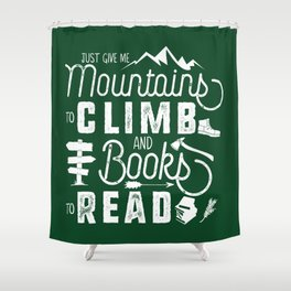 Moutnains & Books - Inverse Shower Curtain