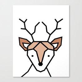 Little Deer Art Print, Geometric deer Canvas Print