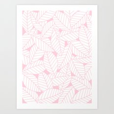 Leaves in Rose Art Print