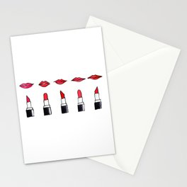 Lips and lipsticks Stationery Cards