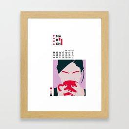 Calendar 2019 March Framed Art Print
