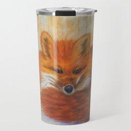 Red fox small nap   Renard roux petite sieste Travel Mug
