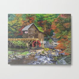 Glade Creek Grist Mill, WV Metal Print