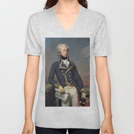 Portrait of Lafayette by Joseph désiré Court Unisex V-Neck