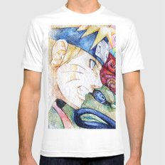 Nauto Watercolor Mens Fitted Tee White SMALL
