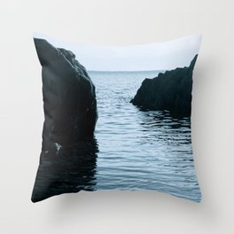 Blue Veins Throw Pillow