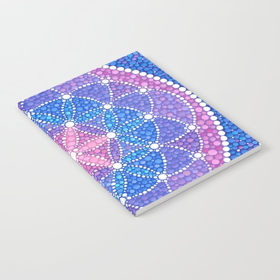 Starry Flower of Life Notebook